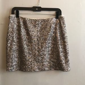 GAP Silver Sequined Mini-skirt